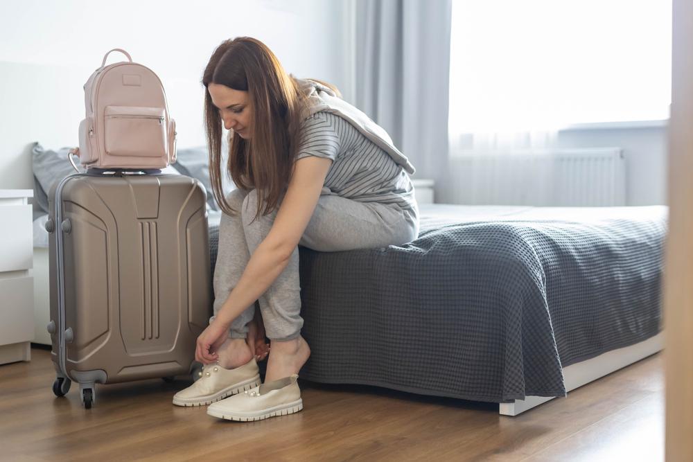 Escolha roupas confortáveis para viajar